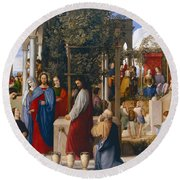 The Marriage At Cana Round Beach Towel