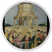 The Marriage Of The Virgin Round Beach Towel
