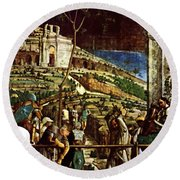 The Martyrdom Of St Jacques Round Beach Towel
