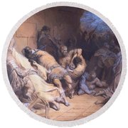 The Martyrdom Of The Holy Innocents 1868 Round Beach Towel