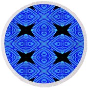 The Mask Masquerading In Blue Round Beach Towel