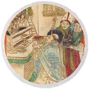 The Mass Of Saint Gregory Round Beach Towel