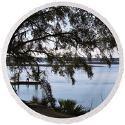 The May River In Bluffton Round Beach Towel