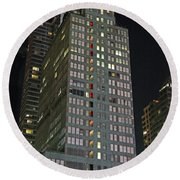 The Mcgraw Hill Building Round Beach Towel