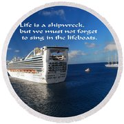The Meaning Of Life Round Beach Towel