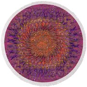 The Meditation Of Souls Round Beach Towel