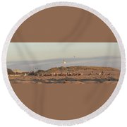 The Meeting Round Beach Towel