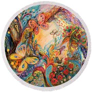 The Melancholy For Chagall Round Beach Towel