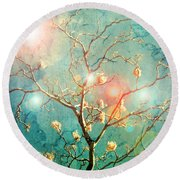 The Memory Of Dreams Round Beach Towel