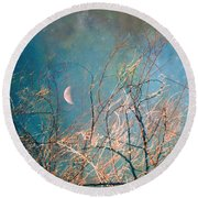 The Messy House Of The Moon Round Beach Towel
