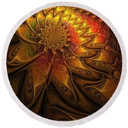 The Midas Touch Round Beach Towel