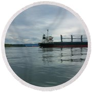 The Mighty Columbia Round Beach Towel