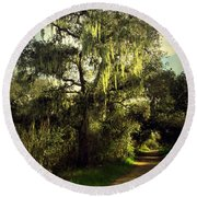 The Mighty Oaks Of Garland Ranch Park 2 Round Beach Towel