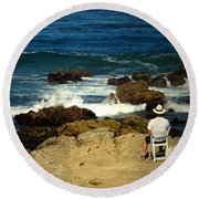 The Mighty Pacific Grab A Chair And Watch The Show Three Round Beach Towel