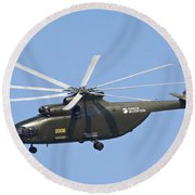 The Mil Mi-26 Cargo Helicopter Round Beach Towel