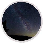 The Milky Way 1 Round Beach Towel by Jim Thompson