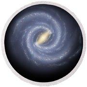 The Milky Way Galaxy Round Beach Towel