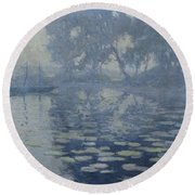 The Mill Pond Round Beach Towel