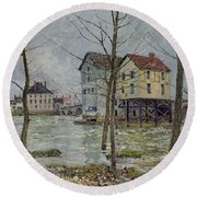 The Mills At Moret Sur Loing Round Beach Towel