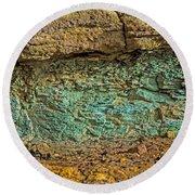 The Minerals Round Beach Towel