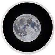 The Mini-moon Of March 5, 2015 Round Beach Towel