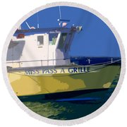 The Miss Pass A Grille Round Beach Towel