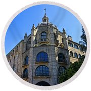 The Mission Inn Tower Round Beach Towel