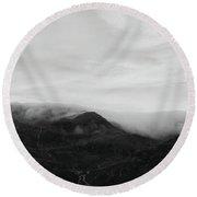 The Misty Mountains Round Beach Towel