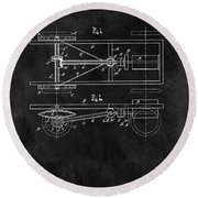 The Model T Patent Round Beach Towel