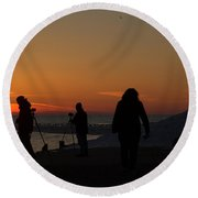The Moment 6 Round Beach Towel