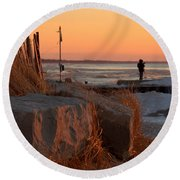 The Moment 8 Round Beach Towel