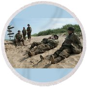 The Monuments Men Round Beach Towel