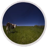 The Moody Cow Round Beach Towel