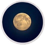 The Moon 1 Round Beach Towel