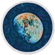 The Moon Round Beach Towel