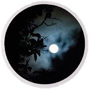 The Moon - La Luna 12 Round Beach Towel