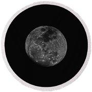 The Moon - La Luna 2 Round Beach Towel