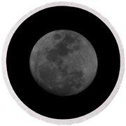 The Moon - La Luna 3 Round Beach Towel