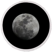 The Moon - La Luna 4 Round Beach Towel