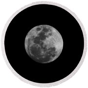 The Moon - La Luna 6 Round Beach Towel