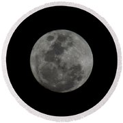 The Moon - La Luna 9 Round Beach Towel