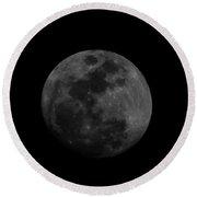 The Moon - La Luna Round Beach Towel