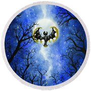the moon of Lunala Round Beach Towel