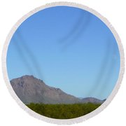 The Moon Over My Mountains Round Beach Towel