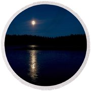 The Moon Over Saari-soljanen 2  Round Beach Towel