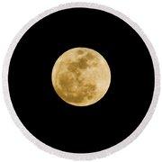 The Moon Round Beach Towel