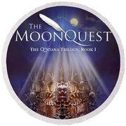 The Moonquest Book Cover Round Beach Towel