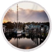 The Mooring Round Beach Towel