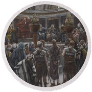 The Morning Judgement Round Beach Towel by Tissot