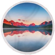 The Morning Tranquility Round Beach Towel